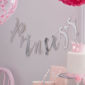 Princess Perfection Silver 'Princess' Bunting - 1.5m